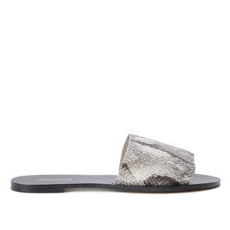 Rasteira Couro Shoestock Slide Cobra Feeling