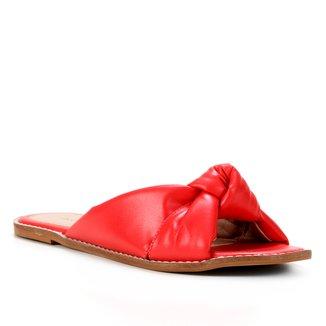 Rasteira Couro Shoestock Slide Nó
