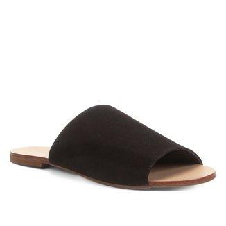 Rasteira Couro Shoestock Slide Nobuck