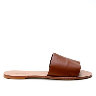 Rasteira Couro Shoestock Slide