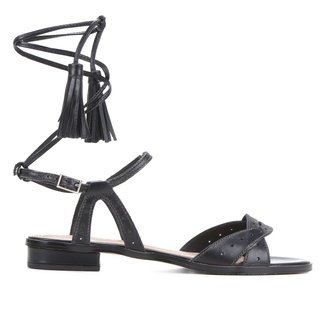 Rasteira Couro Shoestock Tassel
