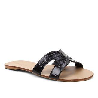 Rasteira Couro Shoestock Tiras