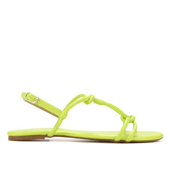 Rasteira Shoestock Color Tiras - Amarelo