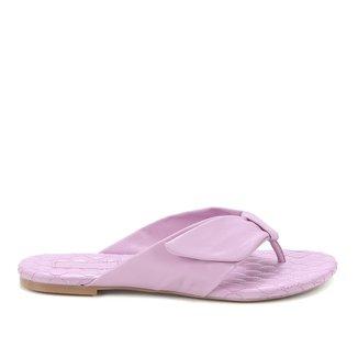 Rasteira Shoestock Couro Comfy Matelassê