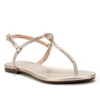 Rasteira Shoestock Dedo Pedra Cristal