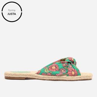 Rasteira Shoestock Espadrille Flat Tecido