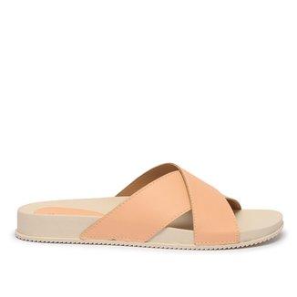 Rasteira Shoestock For You Slide Tira Cruzada Feminina