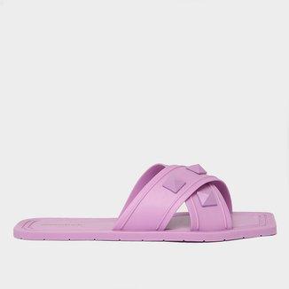 Rasteira Shoestock For You Tiras Cruzadas Spikes