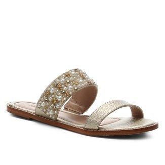Rasteira Shoestock Shine Flats