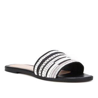 Rasteira Shoestock Slide Bordado