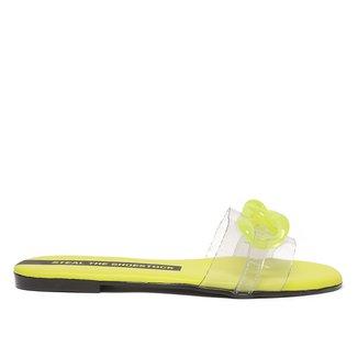 Rasteira Steal The Shoestock Corrente Vinil Color