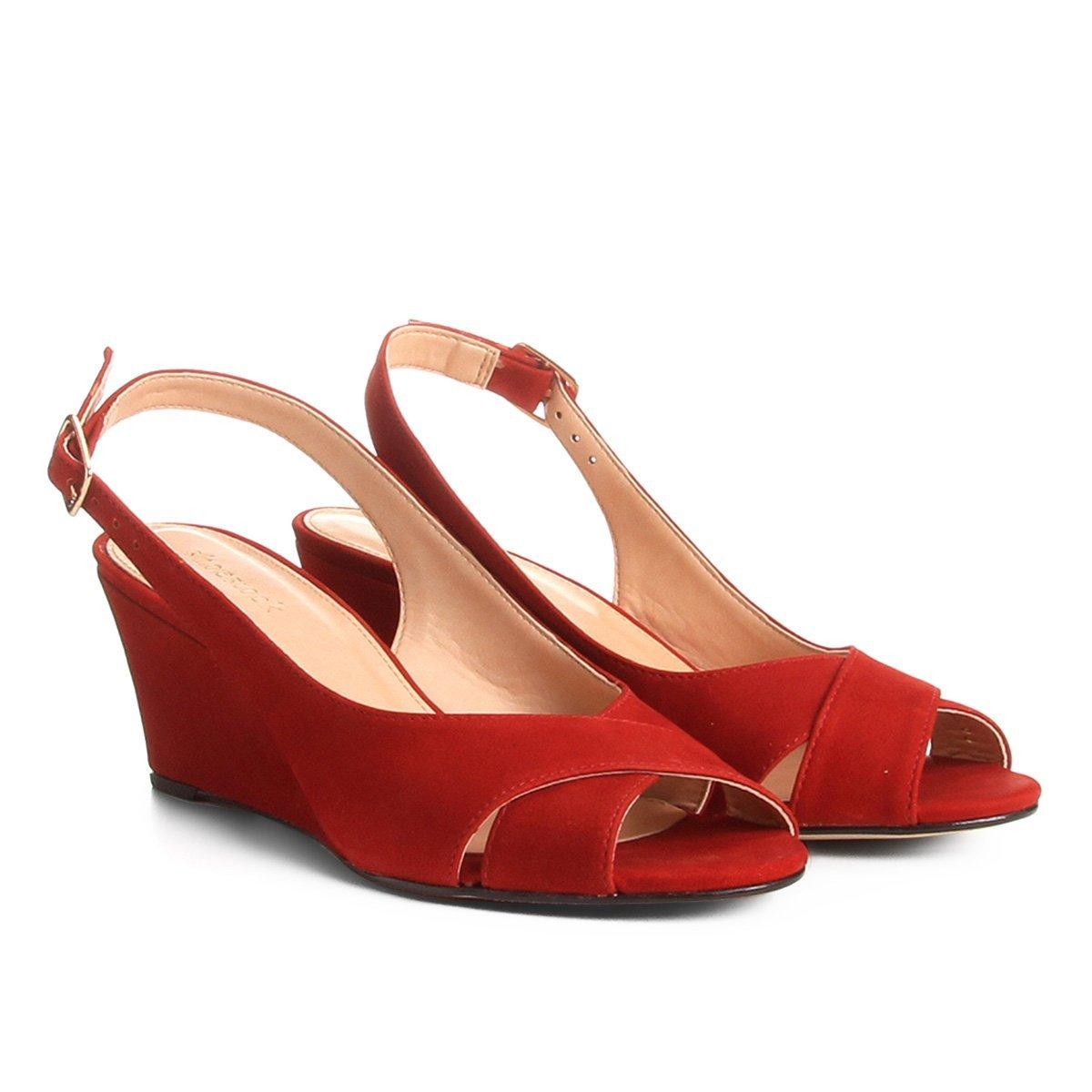 e495581b0 Sandália Anabela Couro Shoestock Nobuck Feminina | Shoestock