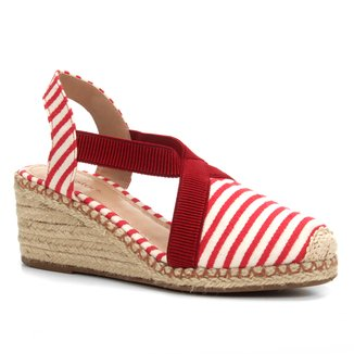 Sandália Anabela Shoestock Elástico Corda Feminina