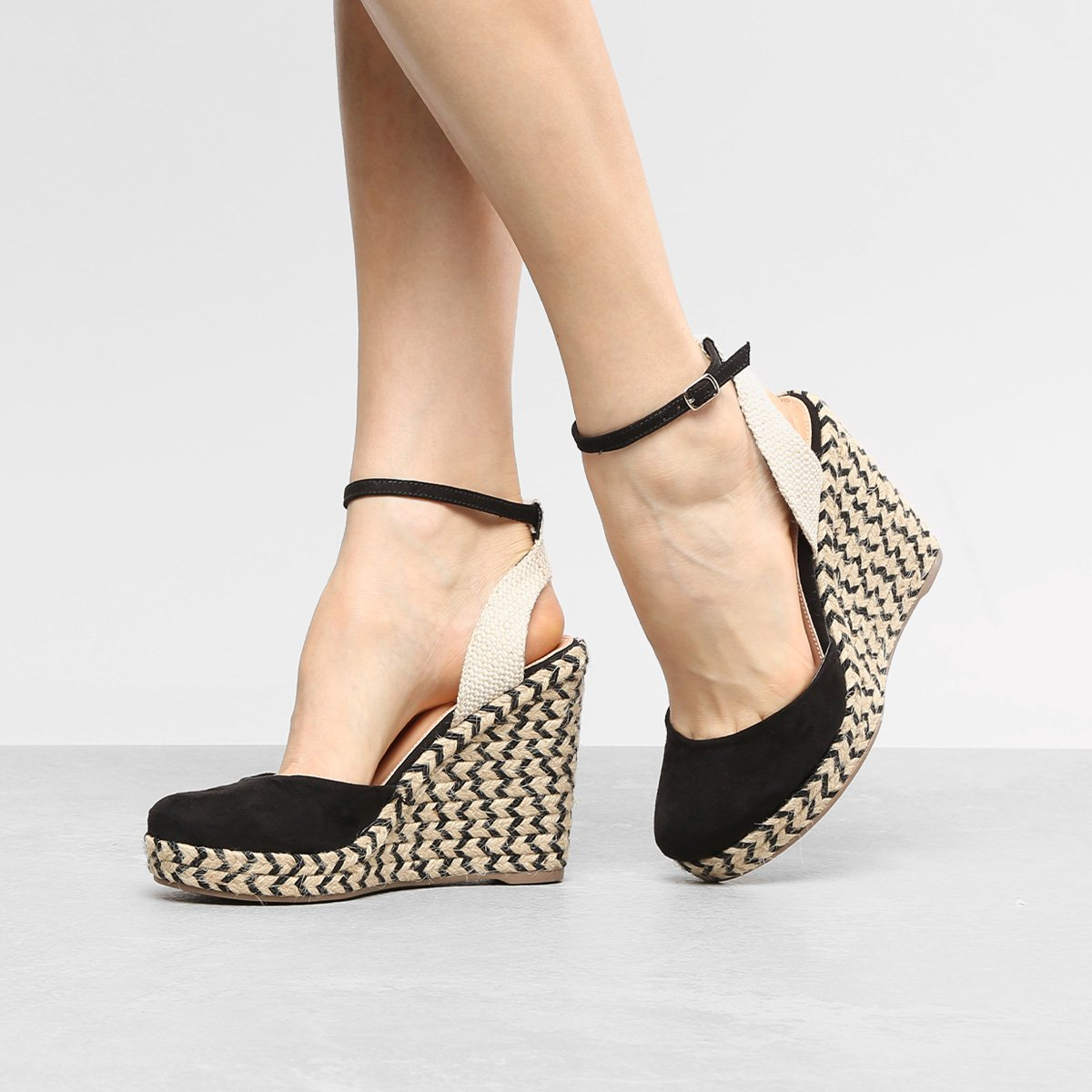 5493d0a3d2 Sandália Anabela Shoestock Espadrille Corda Feminina - Compre Agora ...