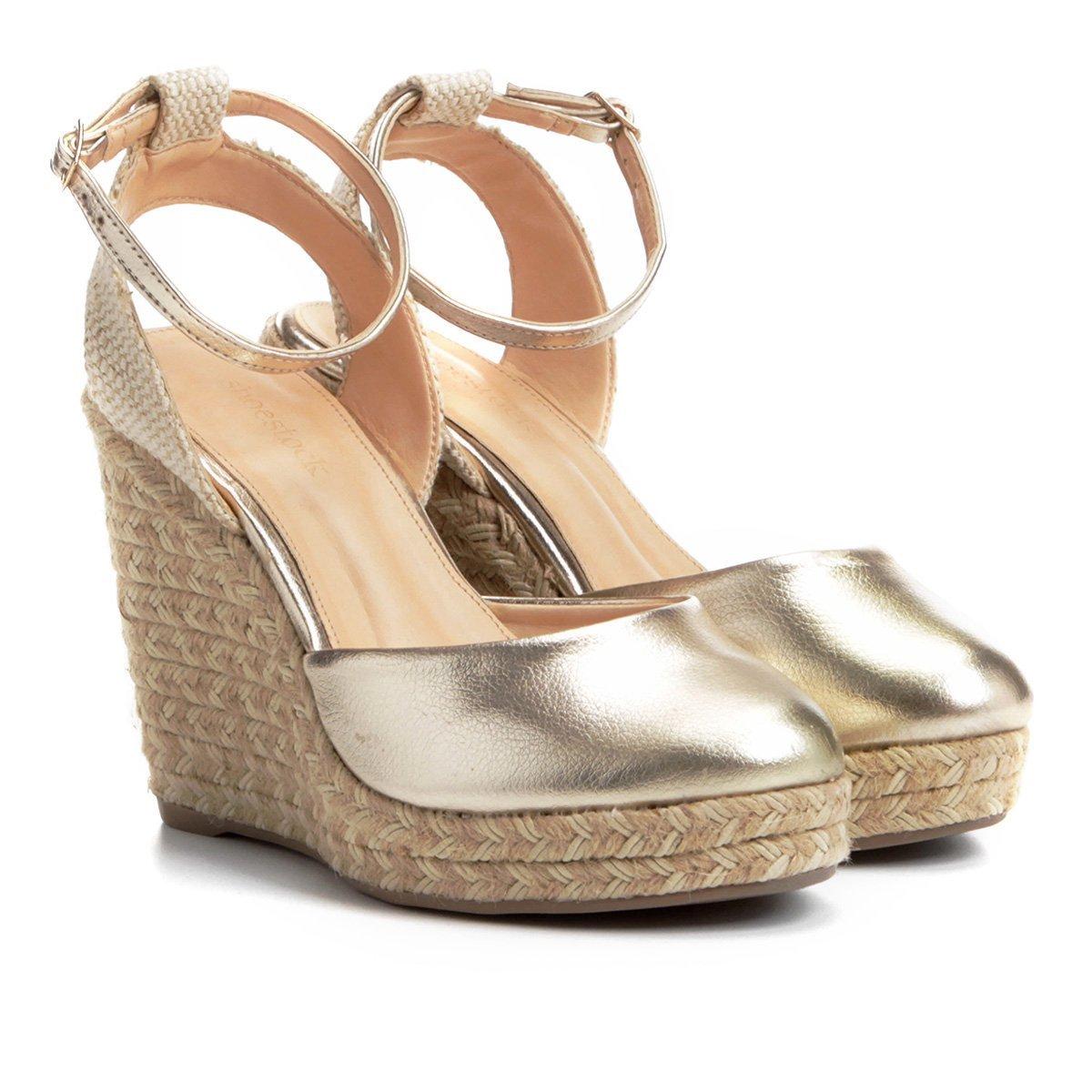 19a78bf404 Sandália Anabela Shoestock Espadrille Corda Feminina