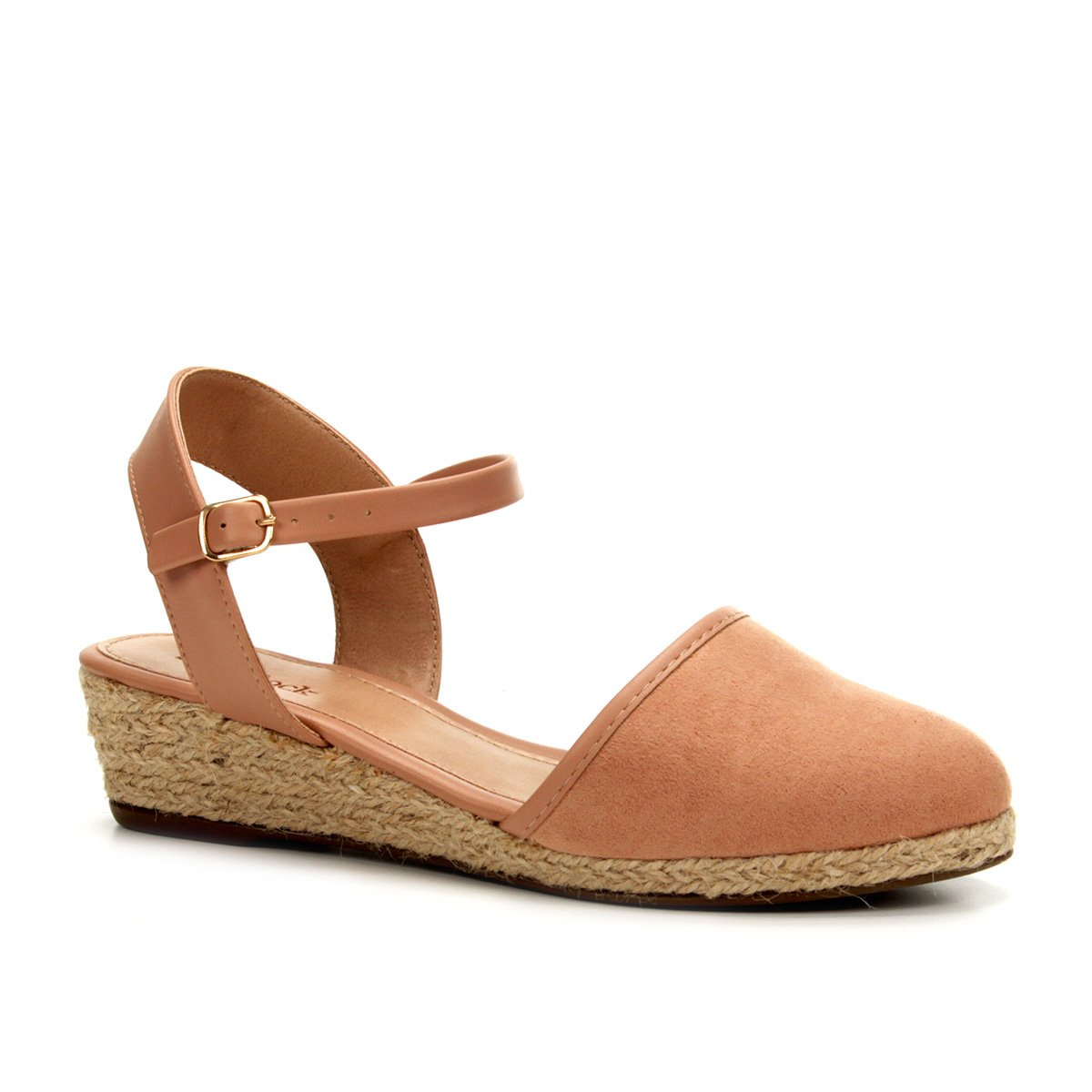 3265108e1 Sandália Anabela Shoestock Espadrille Linho Feminina - Caramelo | Shoestock