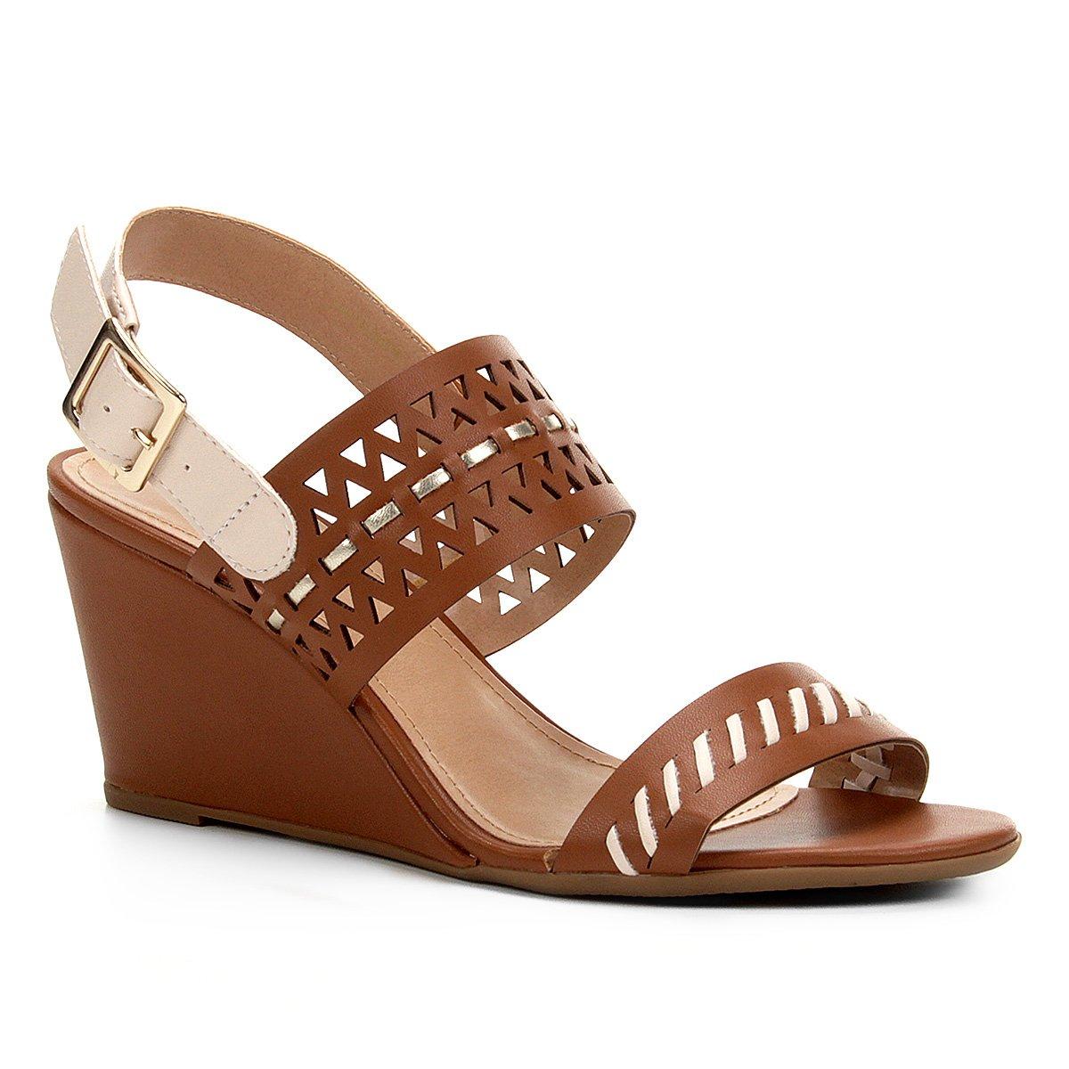 b3b30fbe6 Sandália Anabela Shoestock Laser Feminina - Compre Agora