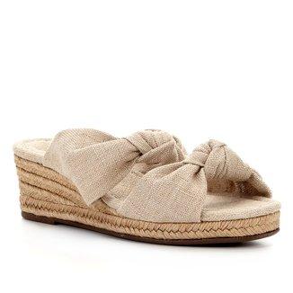 Sandália Anabela Shoestock Nó Corda Feminina