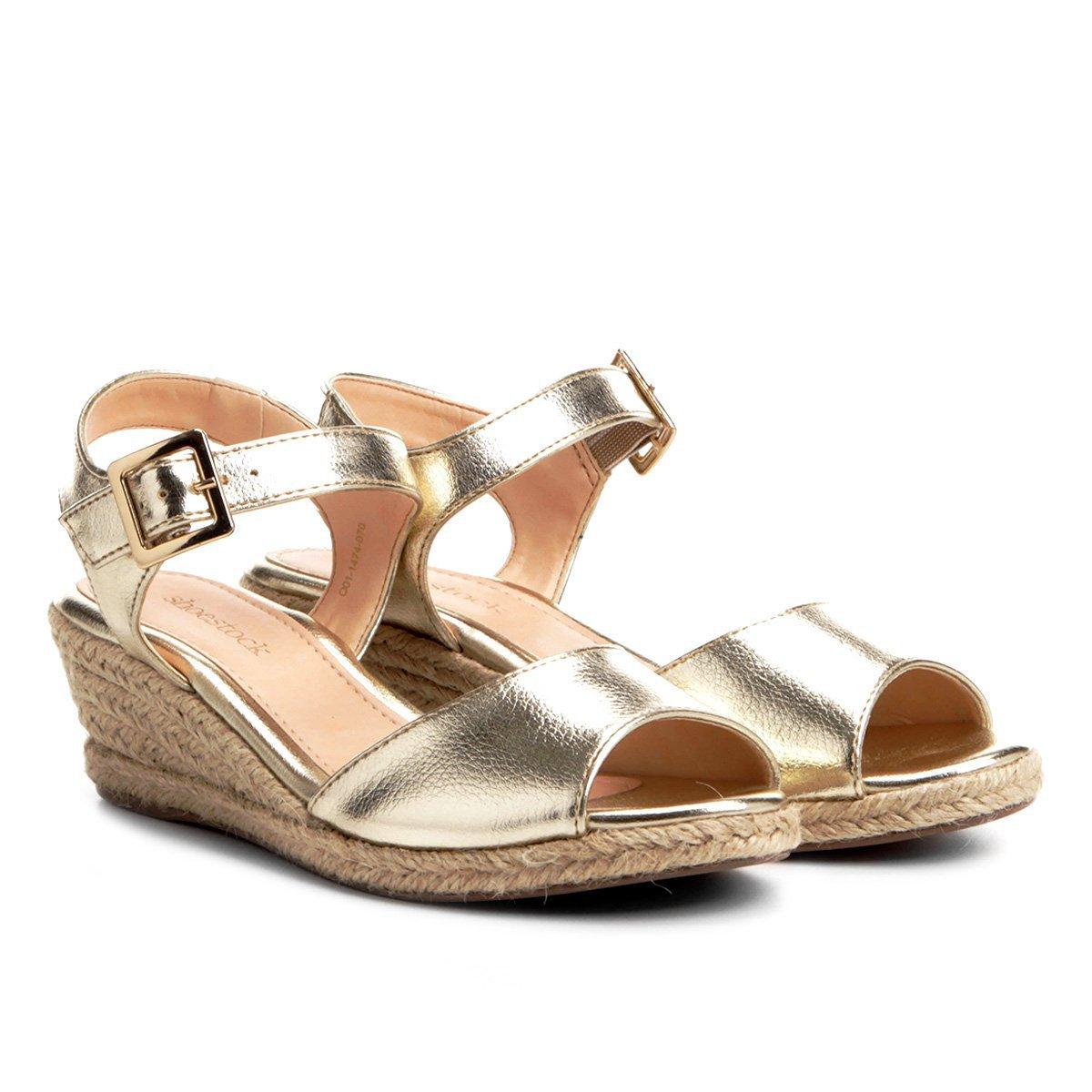3f8769f77 Sandália Anabela Shoestock Salto Baixo Espadrille Feminina - Compre Agora