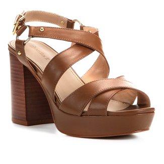 Sandália Couro Shoestock Meia Pata Amazon Feminina