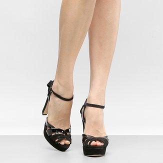 Sandália Couro Shoestock Meia Pata Mix Cores Feminina
