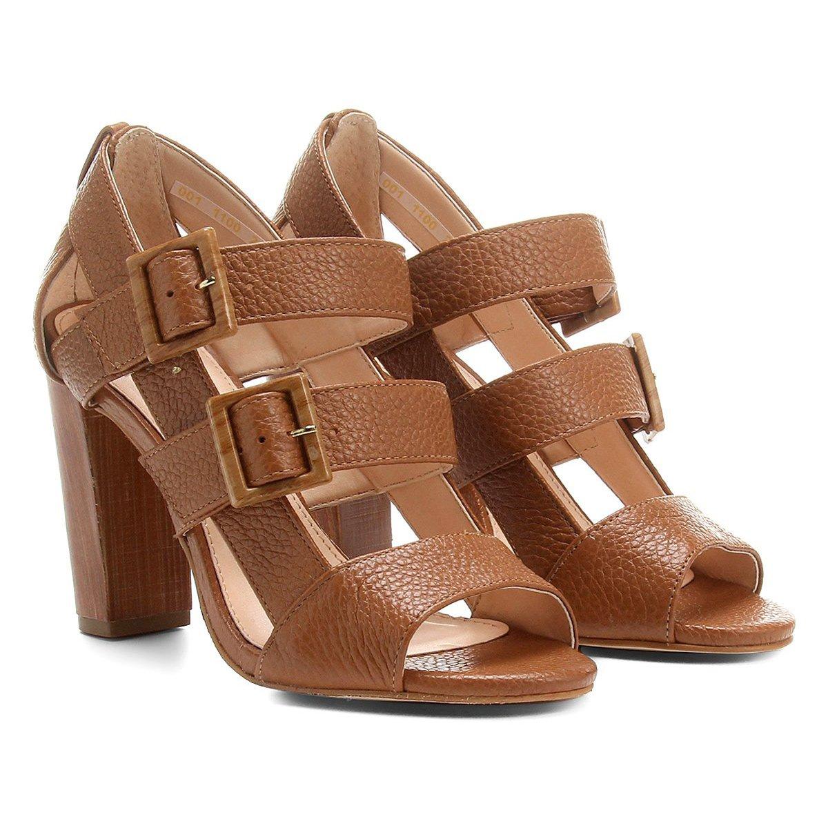Grosso Salto Shoestock Couro Sandália Feminina Fivelas Ed2ehiw9y 1TFJlKc