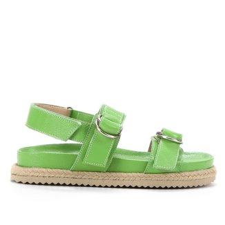 Sandália Papete Shoestock Couro Tira Dupla Feminina