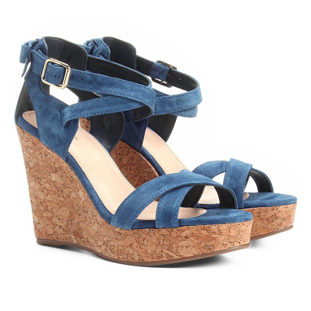 4f8082aa3 Sandália Plataforma Couro Shoestock Laço Feminina | Shoestock