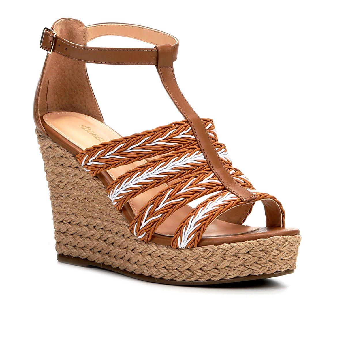 Tranças Sandália Plataforma White E Feminina Caramelo Shoestock Off Couro zqpGVMSU