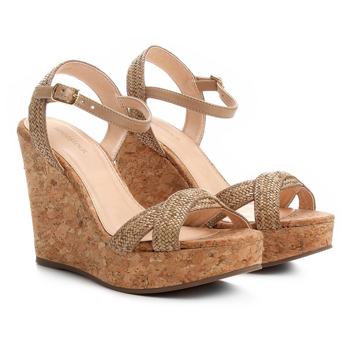 3f7eb90eb Sandália Plataforma Shoestock Tranças Feminina - Compre Agora ...