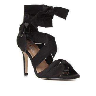 Sandália Shoestock Bride Tiras Cetim Salto Alto Feminina