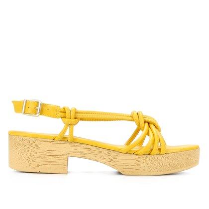 Sandália Shoestock Clog Tiras Feminina