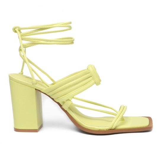 Sandália Shoestock Color Salto Bloco Alto Feminina - Verde