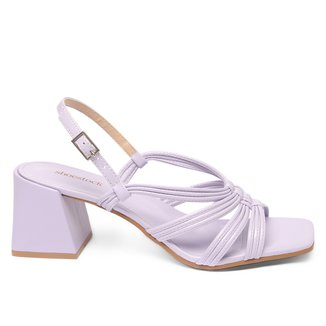 Sandália Shoestock Color Salto Bloco Médio Feminina
