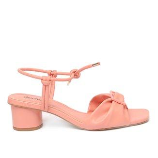 Sandália Shoestock Fivela Color Salto Bloco Feminina