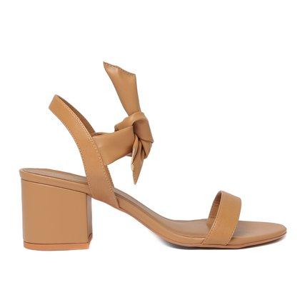 Sandália Shoestock For You Lace Salto Bloco Feminina
