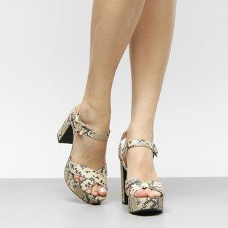 Sandália Shoestock Meia Pata Cobra Feminina