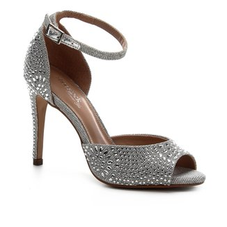 Sandália Shoestock Noiva Lurex Cristais Feminina