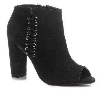 Sandália Shoestock Open Boot Nobuck Feminina