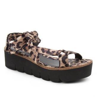 Sandália Shoestock Papete Comfy Flatform Tiras