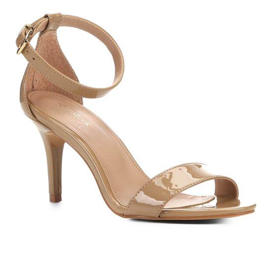 Sandalia Shoestock Salto Alto Naked Feminina - Amendoa