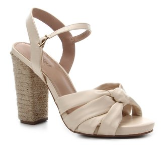 Sandália Shoestock Salto Alto Tiras Nó Feminina