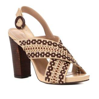 Sandália Shoestock Salto Bloco Handmade Feminina