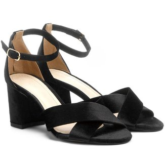 Sandália Shoestock Salto Bloco