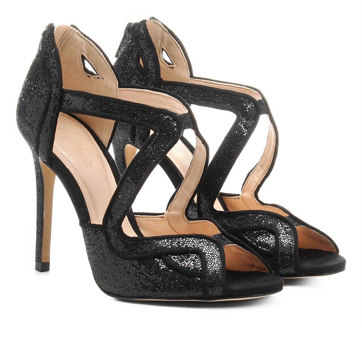 e301ef69a5 Sandália Shoestock Salto Fino Festa Feminina - Compre Agora
