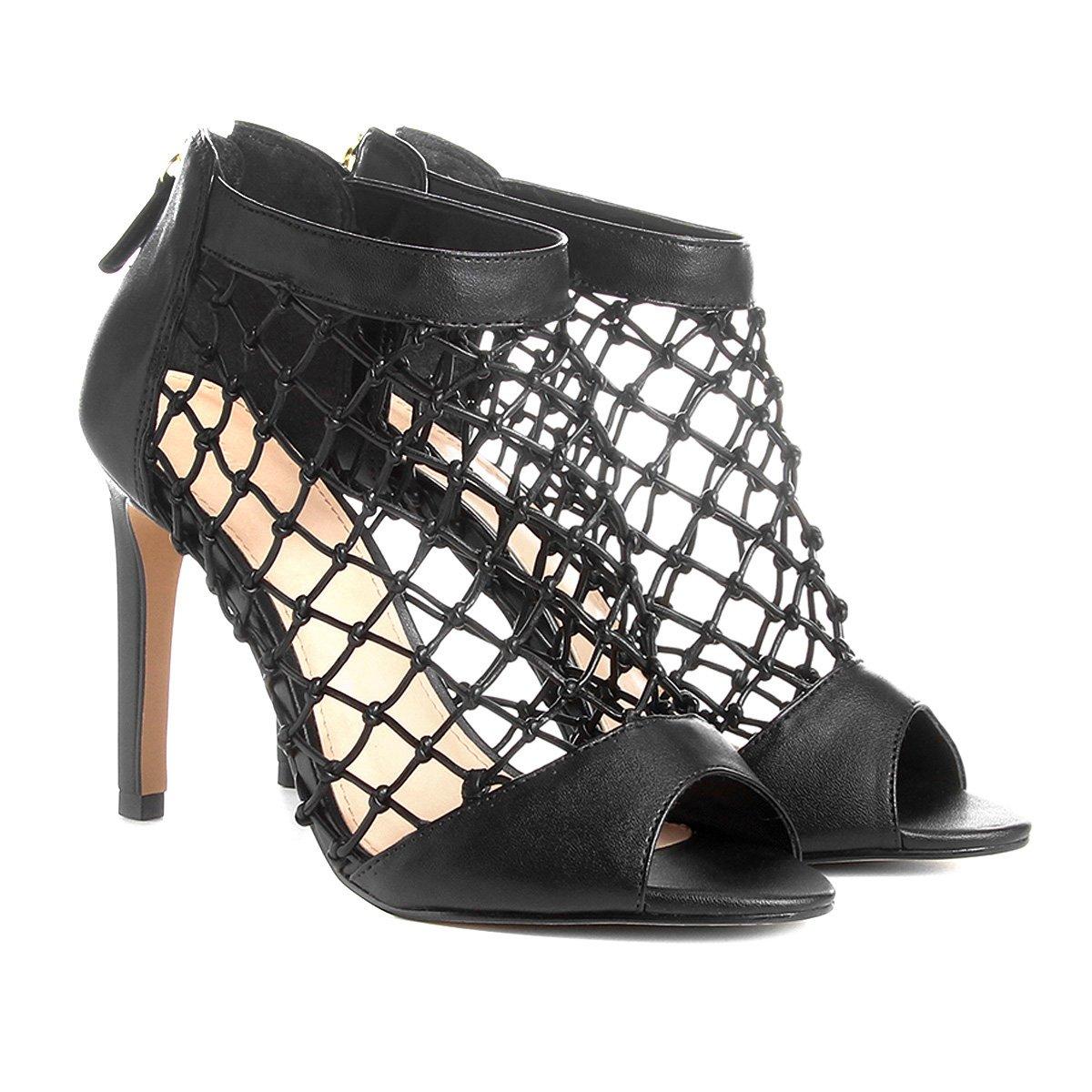 5e77d8eb5 Sandália Shoestock Salto Fino Macramê Feminina | Shoestock