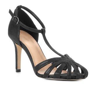 Sandália Shoestock Salto Fino Tiras Feminina