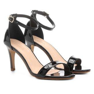 Sandália Shoestock Salto Fino Verniz Feminina