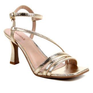 Sandália Shoestock Salto Sino Tiras Feminina