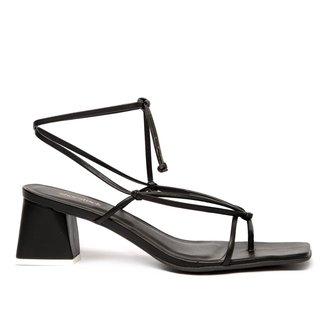 Sandália Shoestock Tiras Color Salto Bloco Feminina
